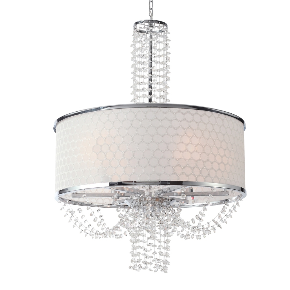 2019 6 Light Polished Chrome Modern Chandelier Draped In Hand Cut Crystal In Modern Chandelier (View 2 of 20)