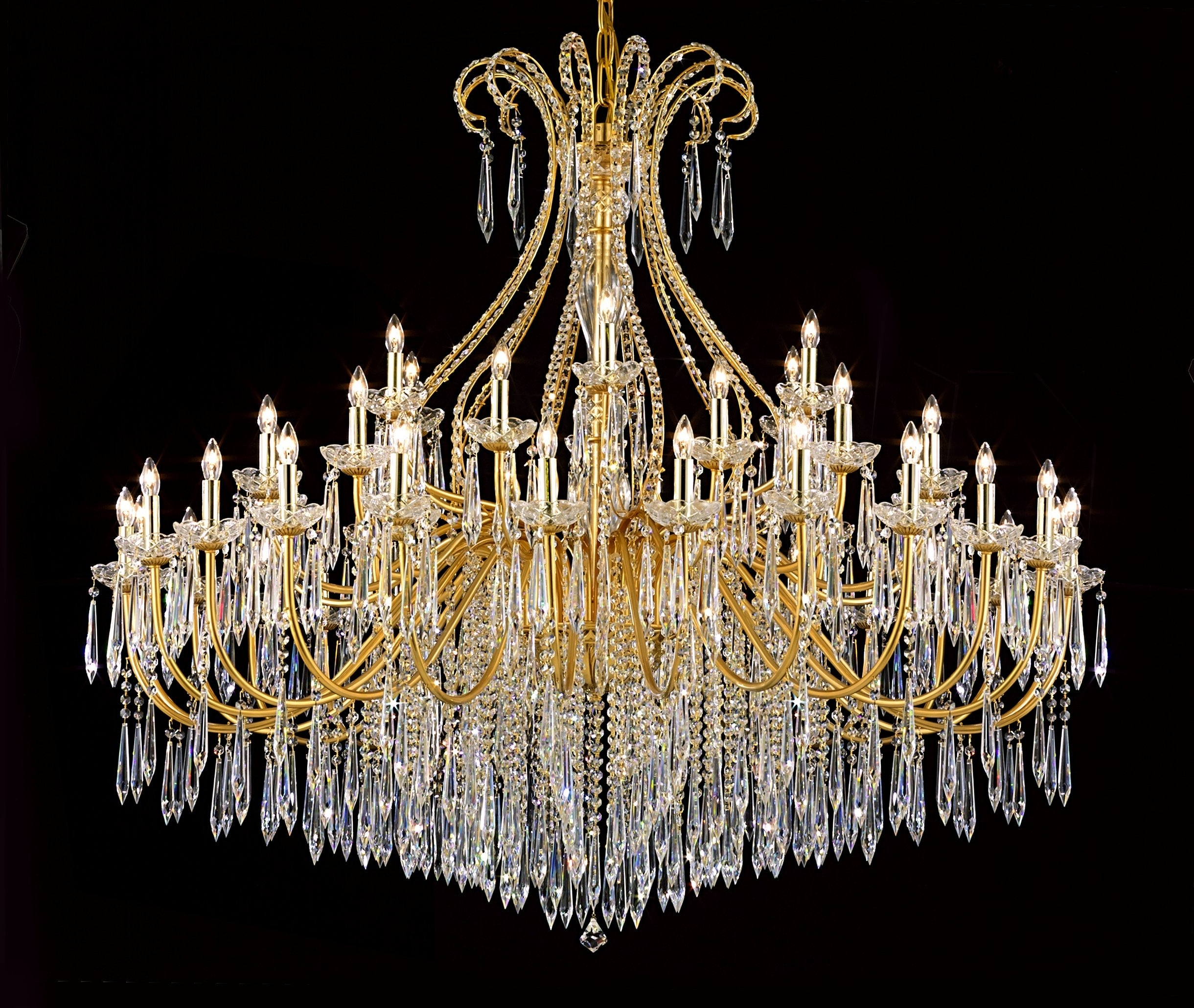 """2019 Am4500A: Large Contemporary """"Marseilles""""Lightingpecaso Pwg Intended For French Gold Chandelier (View 1 of 20)"""