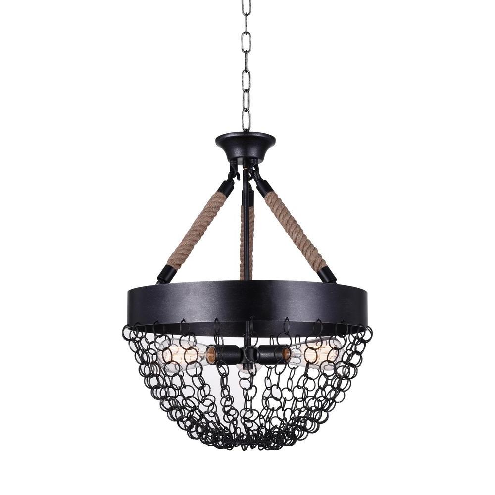 2019 Antique Black Chandelier Throughout Mackenzie 3 Light Antique Black Chandelier 9963P18 3 207 – The Home (View 2 of 20)