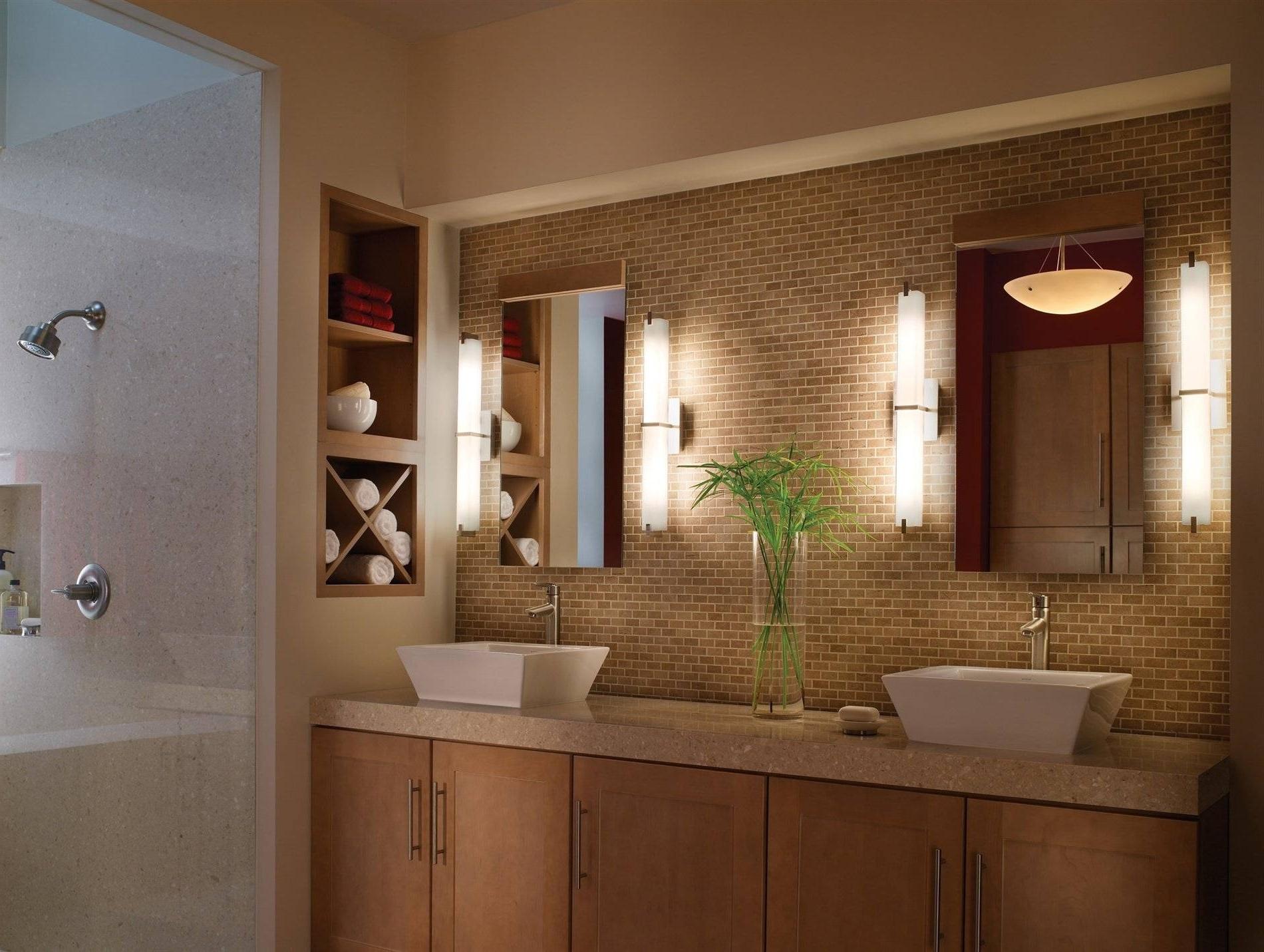 2019 Bathroom Design : Inspirationalbathroom Vanity Lighting @ Unique With Chandelier Bathroom Vanity Lighting (View 20 of 20)