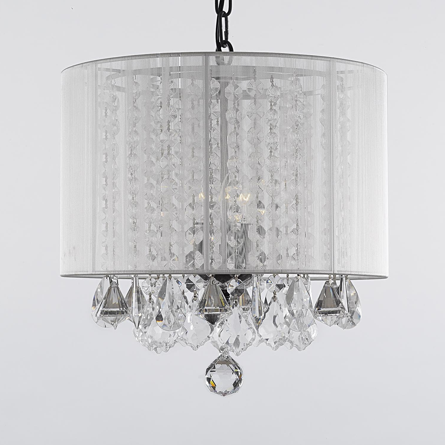 2019 Chandeliers : Chandelier With Drum Shade Beautiful Black Drum Shade With Regard To Chandelier With Shades And Crystals (View 17 of 20)