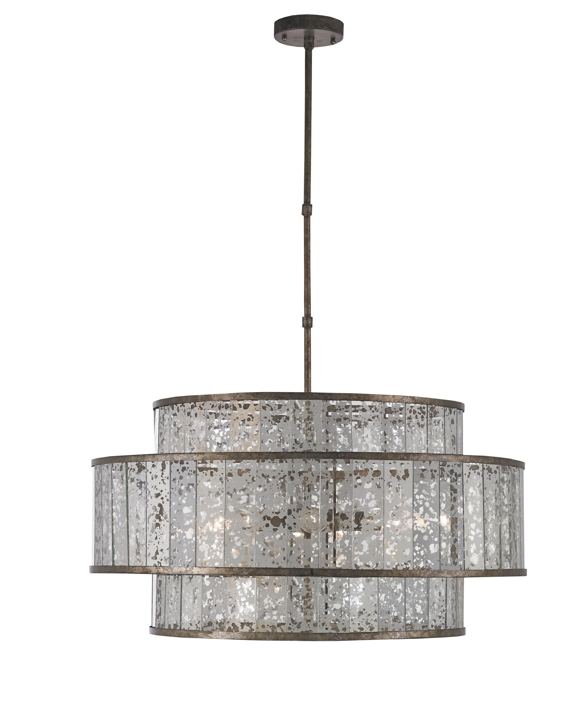 2019 Currey And Company 9454 Fantine 30 Inch Wide 8 Light Large Pendant Pertaining To Mirrored Chandelier (View 2 of 20)