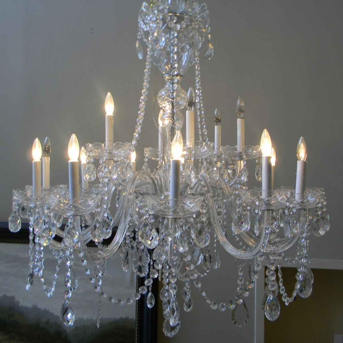 2019 Expensive Crystal Chandeliers Throughout Lamp Antiques (View 7 of 20)