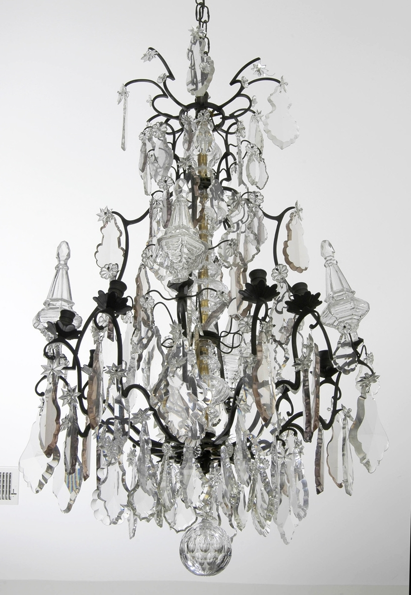 2019 French Bronze Chandelier With Louis Xv Crystal And Bronze Antique Chandelier (View 14 of 20)