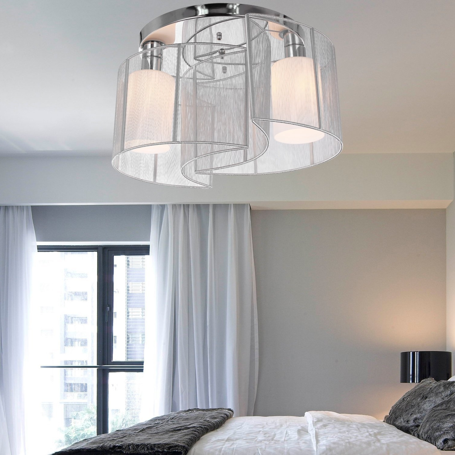 2019 Light Fixture : Night Stand Lamps Master Bedroom Ceiling Ideas Intended For Chandelier Night Stand Lamps (View 7 of 20)