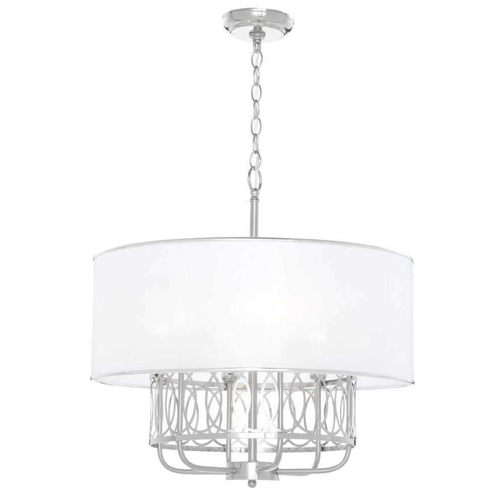 2019 Modern White Chandelier Inside Modern – Chandeliers – Lighting – The Home Depot (View 3 of 20)