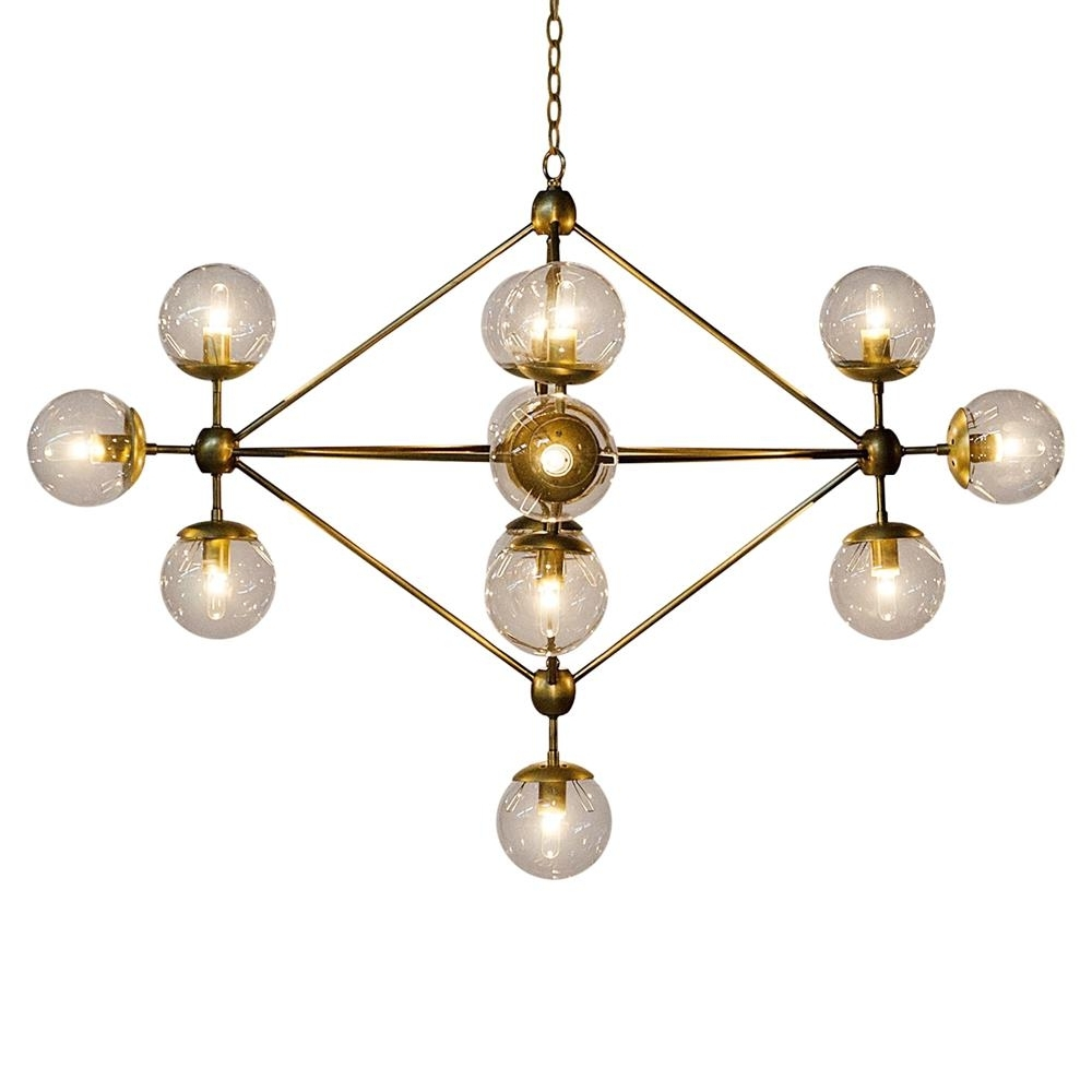 2019 Orion Modern Antique Brass Metal Constellation Orb Chandelier Regarding Orb Chandelier (View 3 of 20)