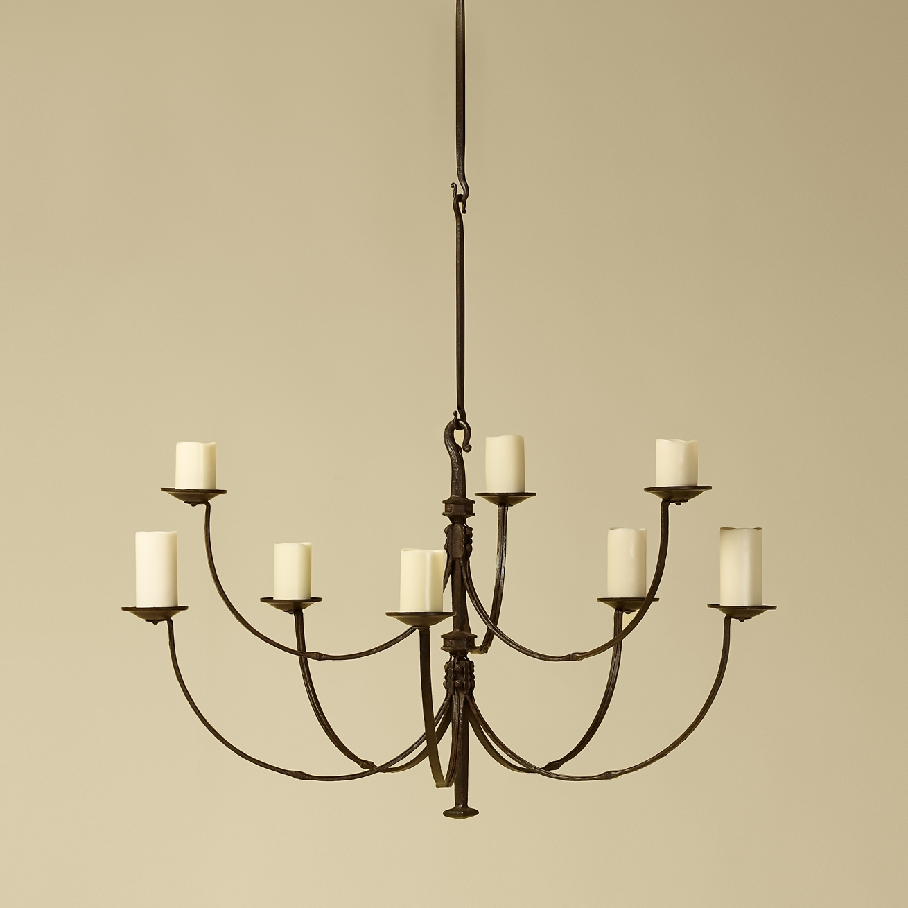 2019 Rose Tarlow Iron Chandelier – Such Graceful Lines On This Chandelier With Regard To Iron Chandelier (View 2 of 20)