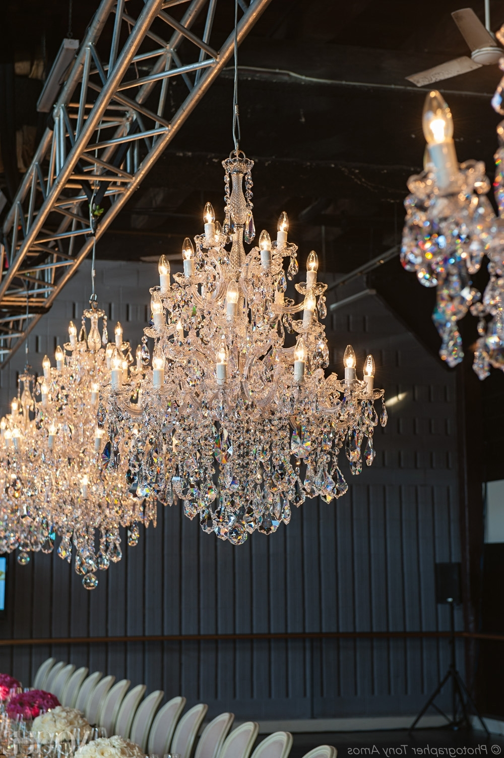 2019 Vogue Living — 'katerina' Chandeliers, Hand Threaded With For Lead Crystal Chandelier (View 2 of 20)