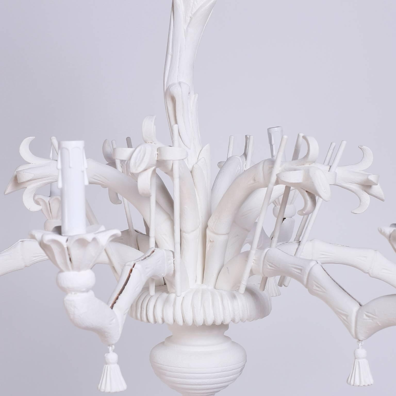 2019 White Palm Tree Chandelier At 1stdibs Inside Chinoiserie Chandeliers (View 16 of 20)