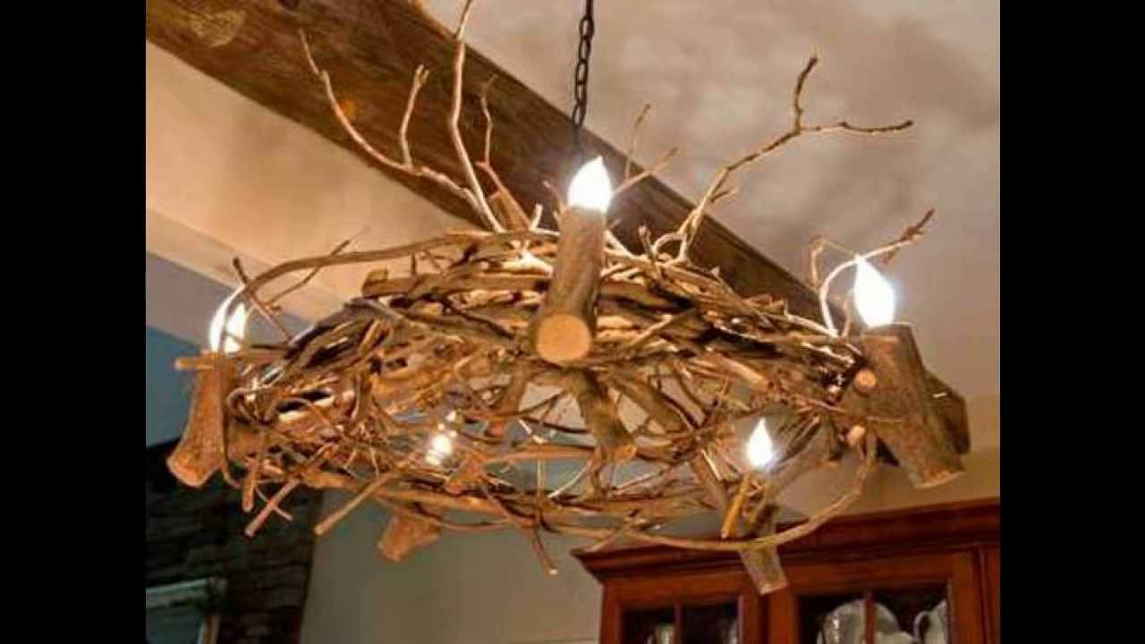 22 Diy Ideas For Rustic Tree Branch Chandeliers – Youtube Throughout 2019 Branch Chandeliers (View 4 of 20)