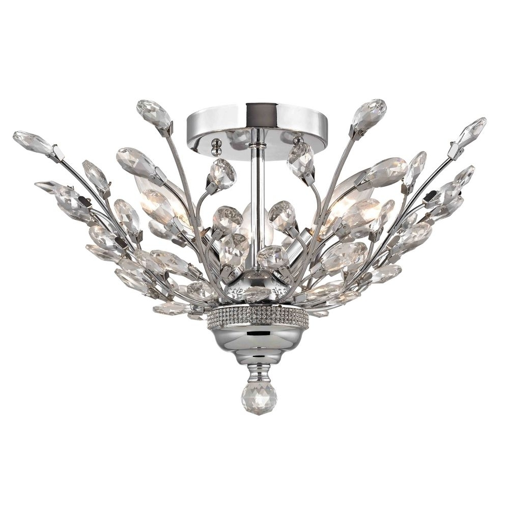 2253 26 With Crystal Chrome Chandeliers (View 13 of 20)