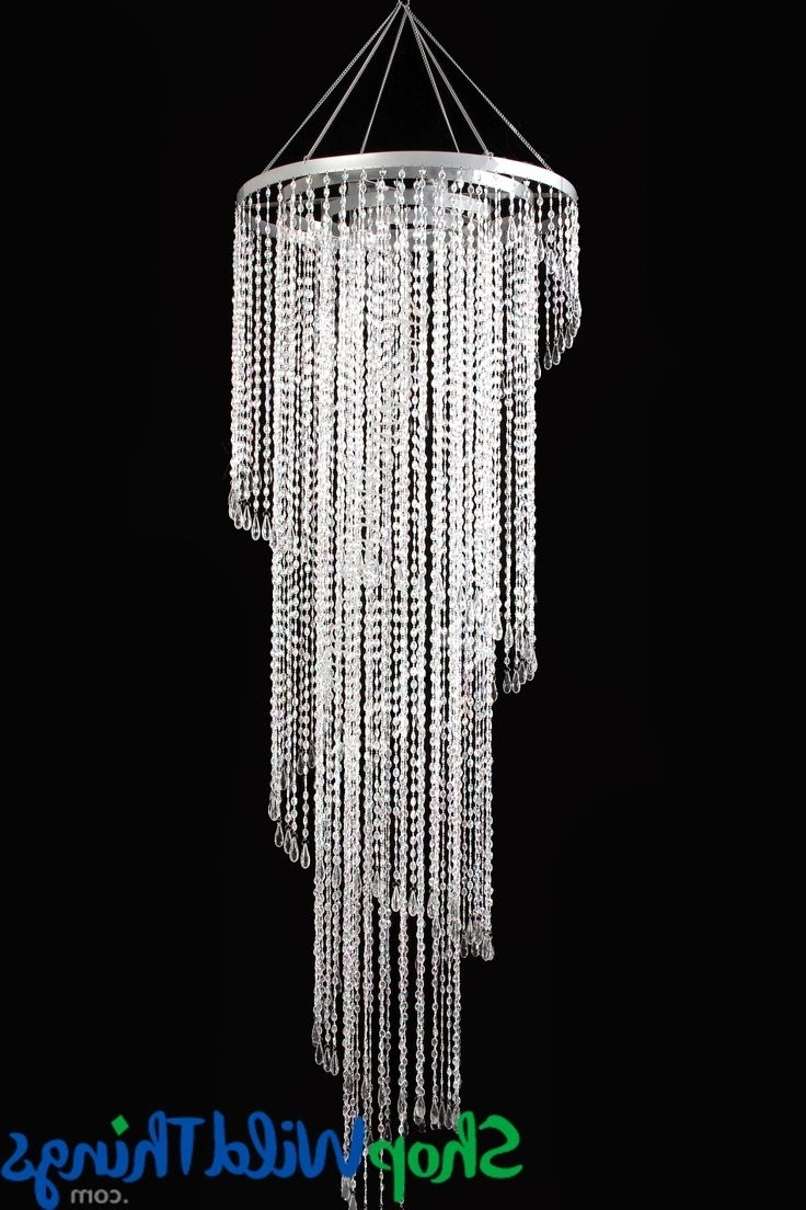 26 Best Big Big Stuff Makes Us Happy Happy Happy! Images On Inside Most Up To Date Faux Crystal Chandelier Wedding Bead Strands (View 12 of 20)