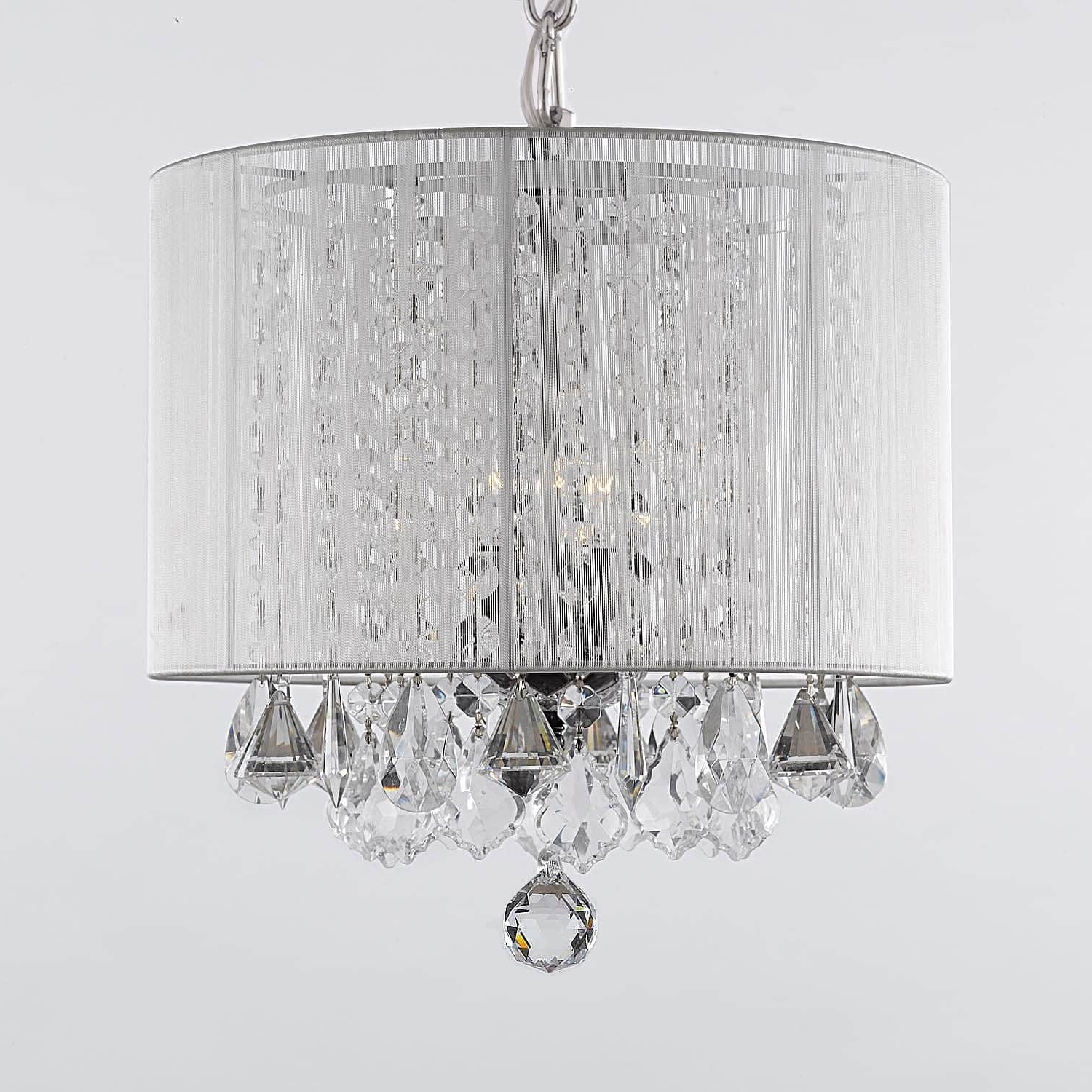 3 Light Crystal Chandeliers For Widely Used Gallery 3 Light Crystal Chandelier With Shade – Free Shipping Today (Gallery 14 of 20)