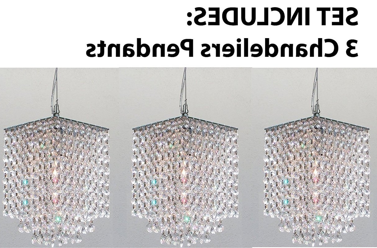 3 Light Crystal Chandeliers In Famous Orren Ellis Huddle 3 Light Crystal Chandelier & Reviews (Gallery 11 of 20)