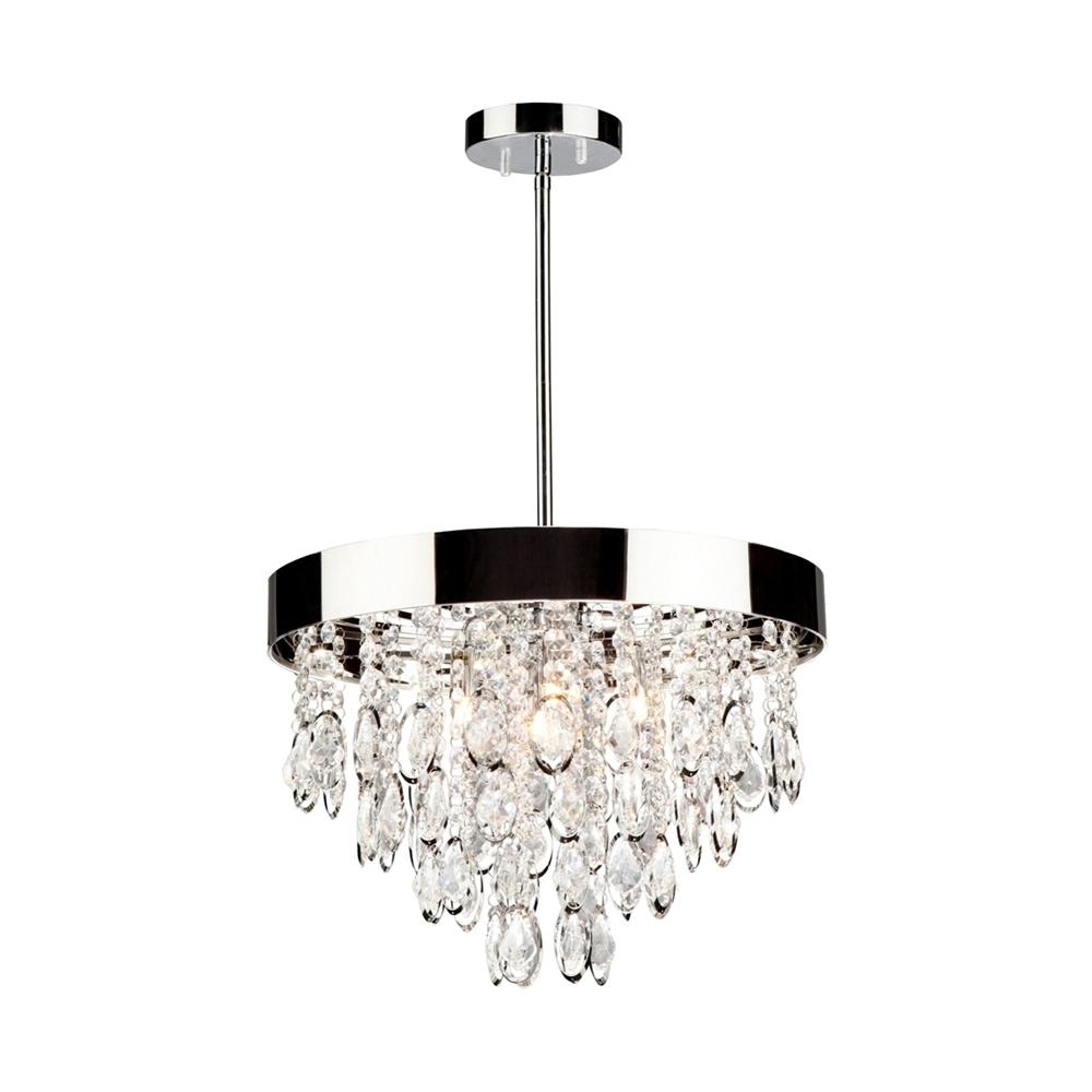 3 Light Crystal Chandeliers Pertaining To 2019 Artcraft Lighting Ac10110 Elegante 3 Light Crystal Chandelier (View 6 of 20)