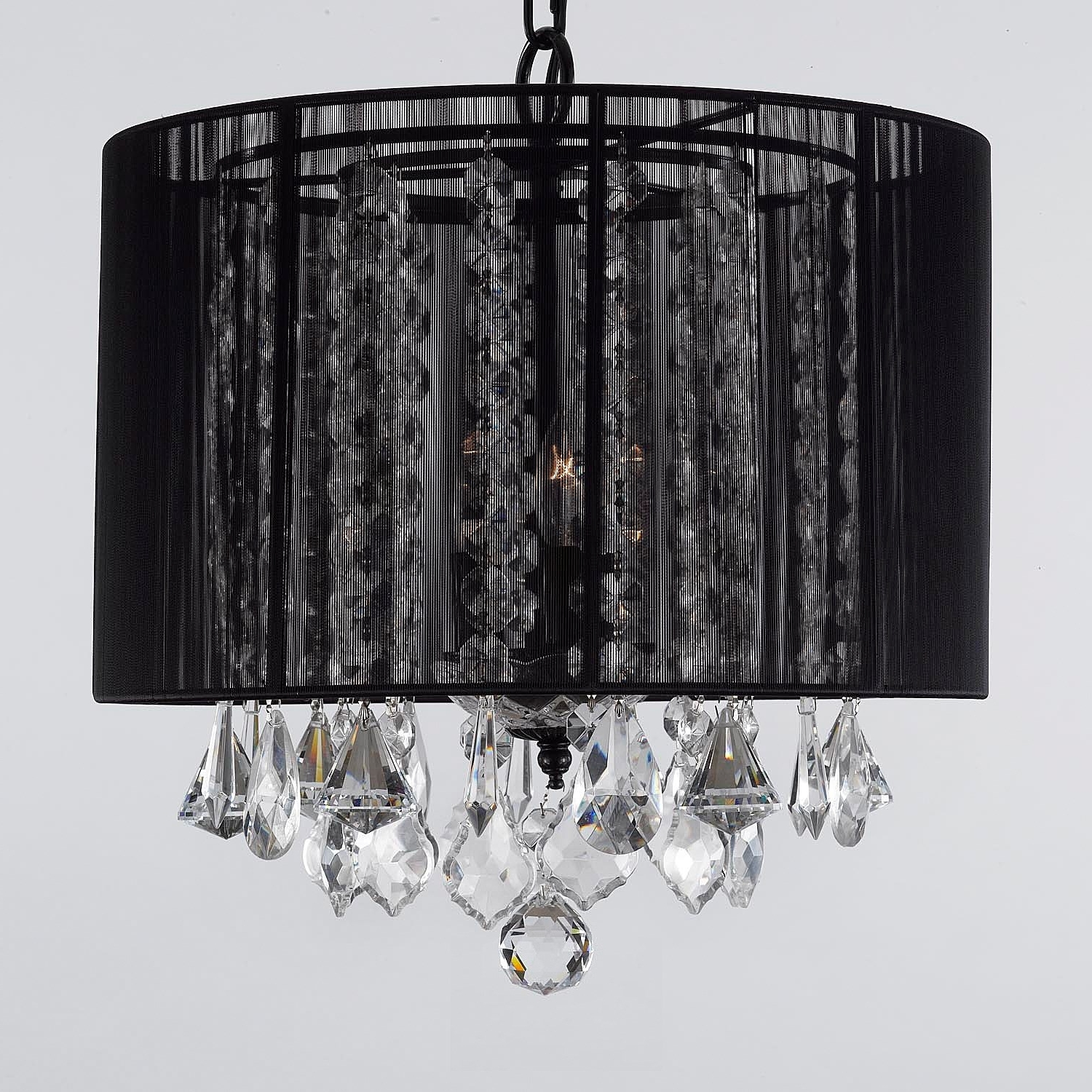 3 Light Crystal Chandeliers With Famous Gallery Lighting Sm 604 3 3 Light Crystal Chandelier With Black (Gallery 9 of 20)