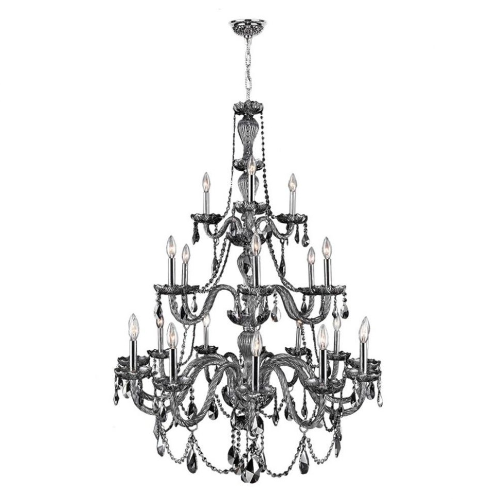 3 Tier Crystal Chandelier With Regard To Best And Newest Chandeliers : Weinstock Lighting 5H Light Tier Crystal Chandelier (View 4 of 20)