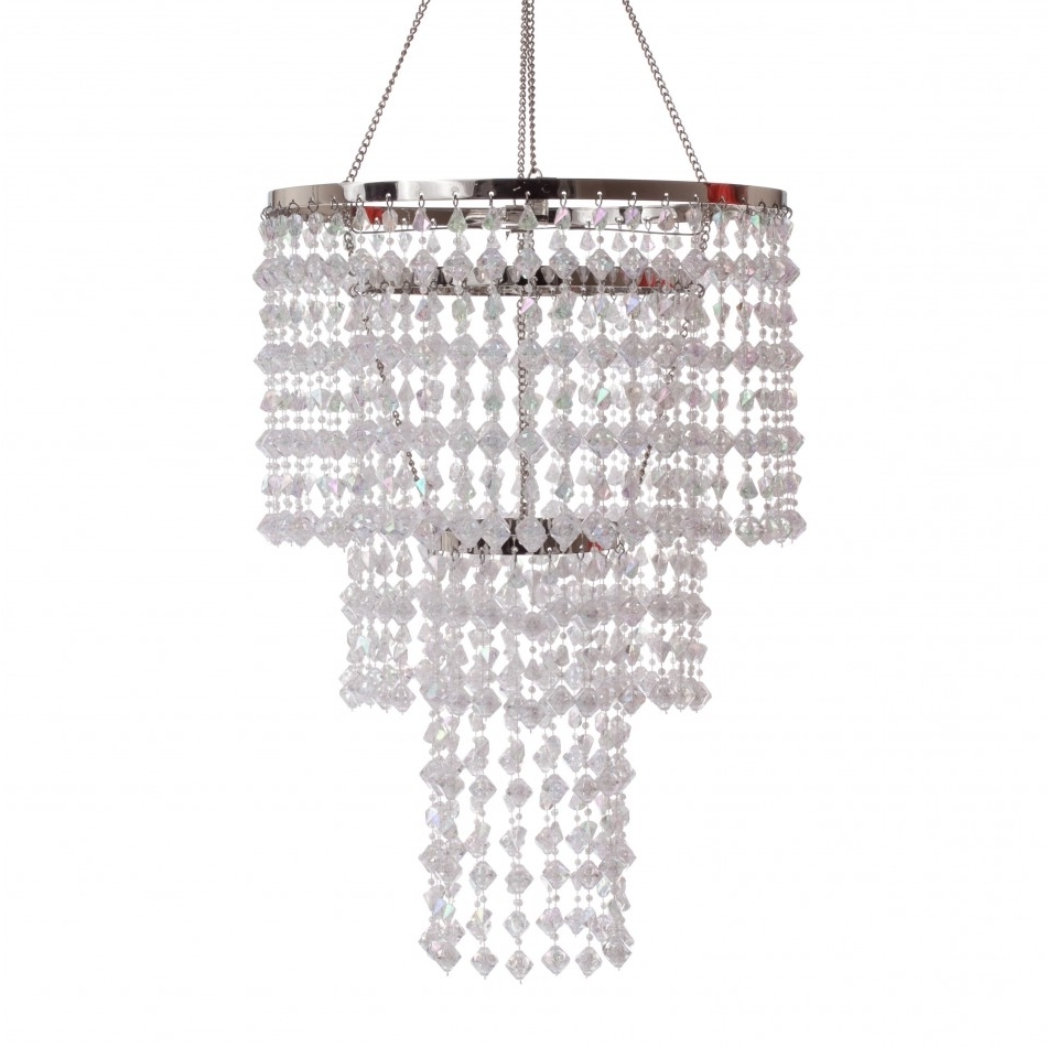 3 Tier Gemstone Crystal Chandelier With Regard To Most Current 3 Tier Crystal Chandelier (View 6 of 20)