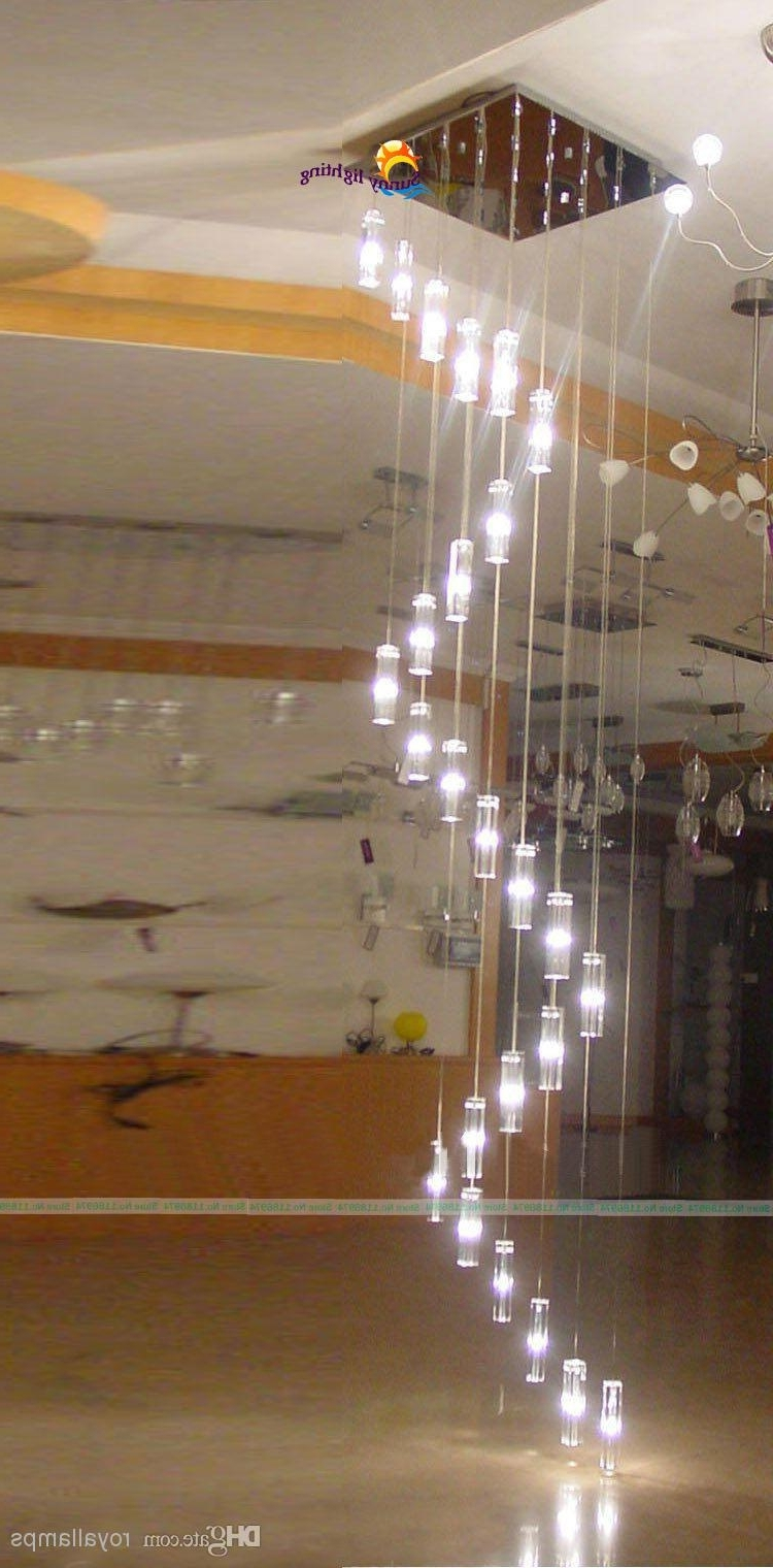 30 Lights 3.5 4M Large Long Stairway Crystal Chandelier Lamp Big Regarding Current Modern Large Chandelier (Gallery 13 of 20)