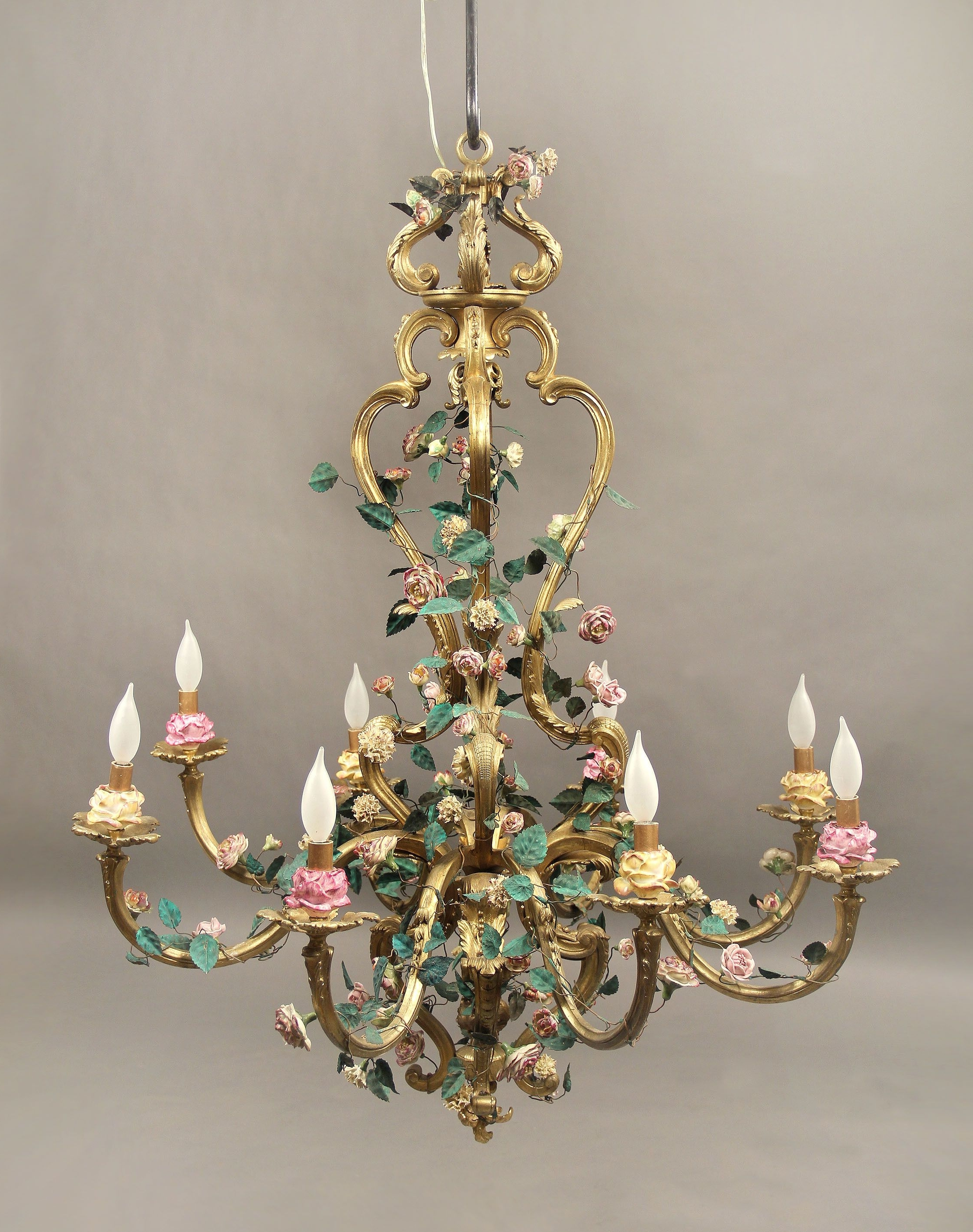 3D With Popular French Bronze Chandelier (View 3 of 20)
