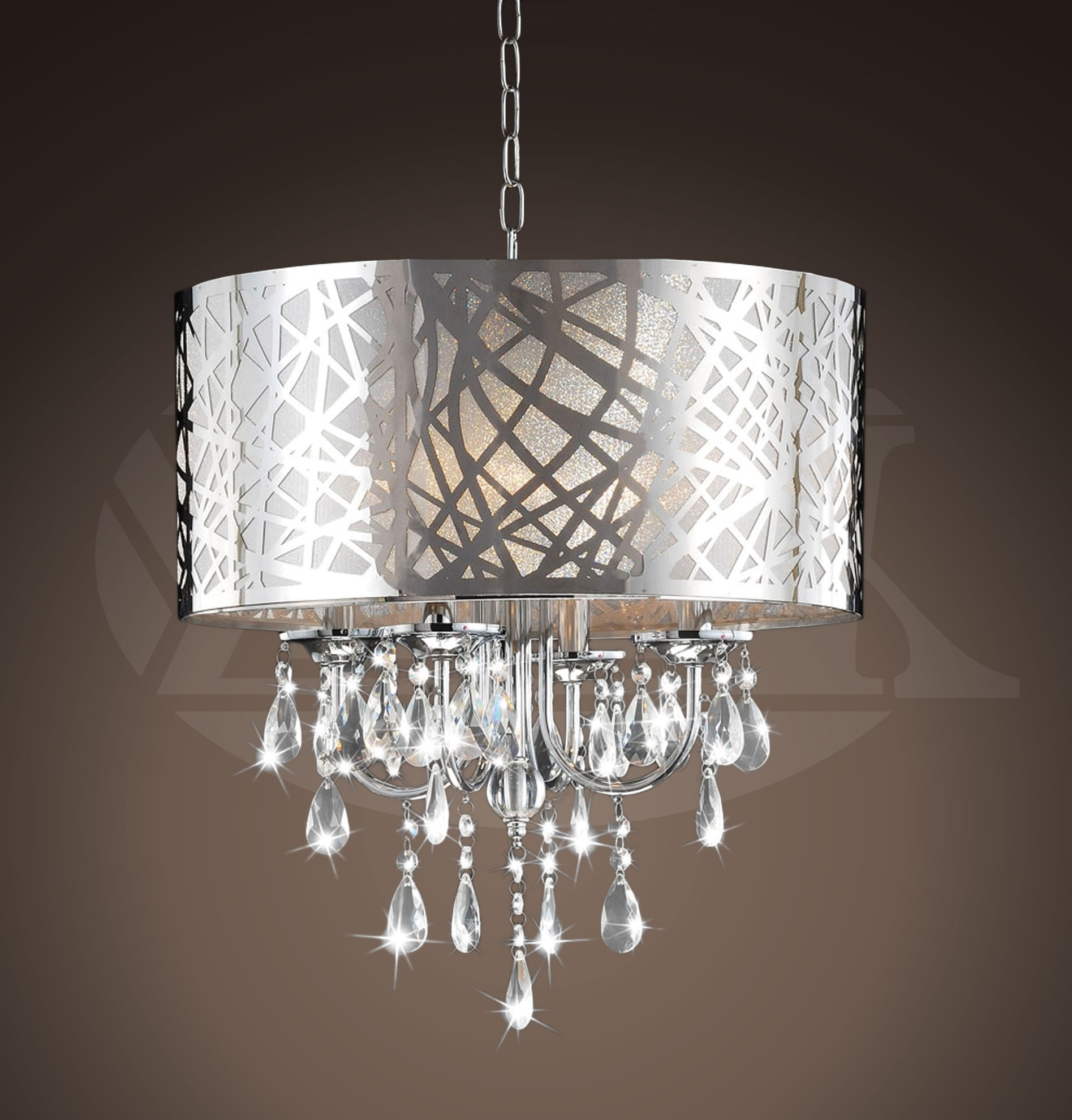 "4 Light Chrome Crystal Chandeliers Throughout Well Known Design 4 Light Chrome Crystal Chandelier (16""wx20""h) Xtkbcm030Sc4X (View 7 of 20)"