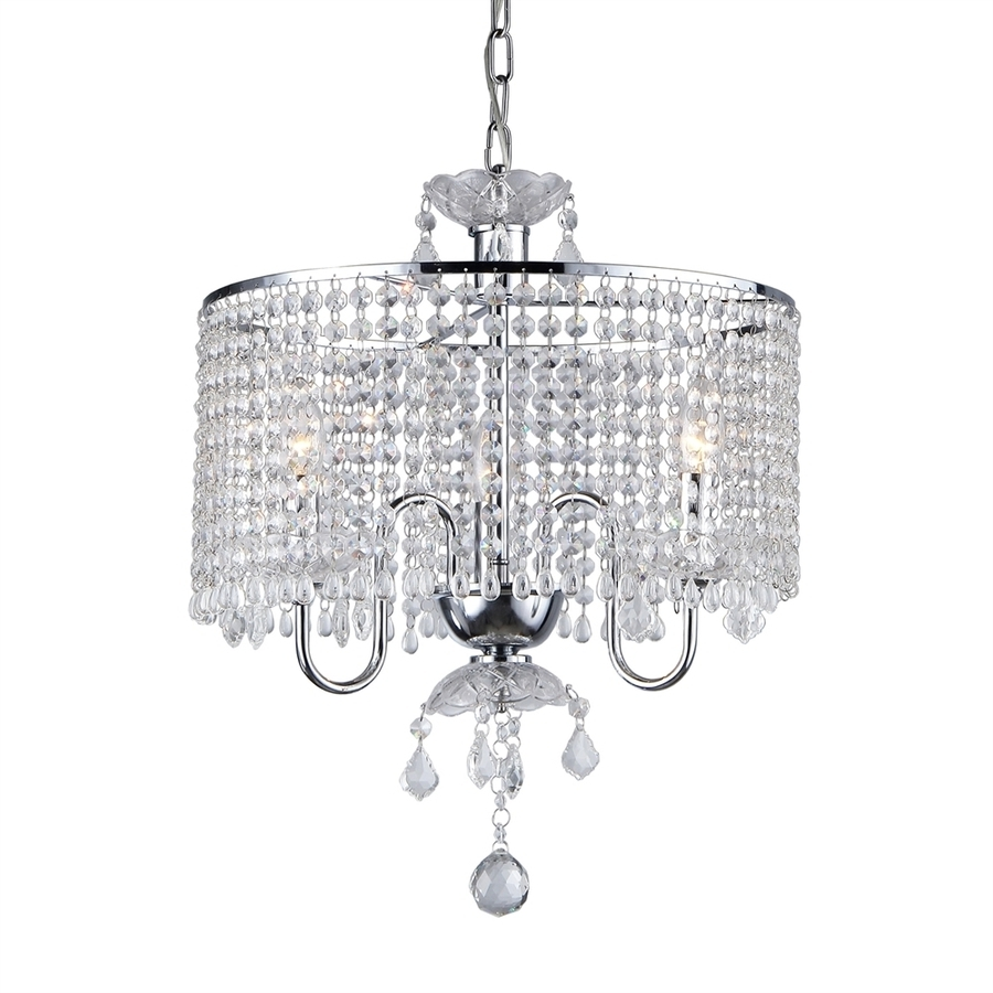 4 Light Chrome Crystal Chandeliers Within 2019 Shop Warehouse Of Tiffany 17 In 3 Light Chrome Crystal Crystal Drum (Gallery 8 of 20)
