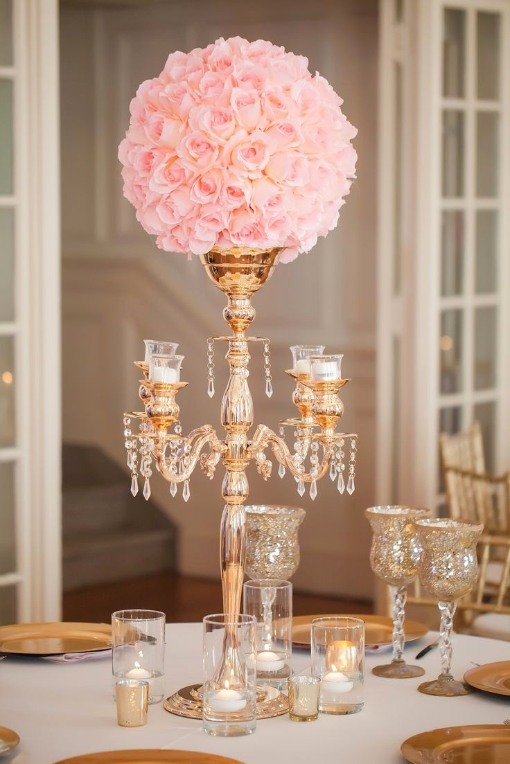 Featured Photo of Faux Crystal Chandelier Centerpieces