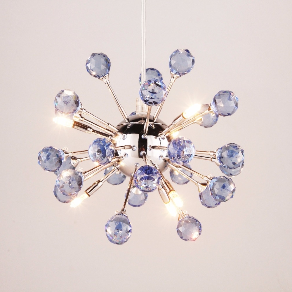 6 Light Floral Shape K9 Purple Luxury Crystal Chandelier Living Room Within Most Up To Date Purple Crystal Chandeliers (View 20 of 20)