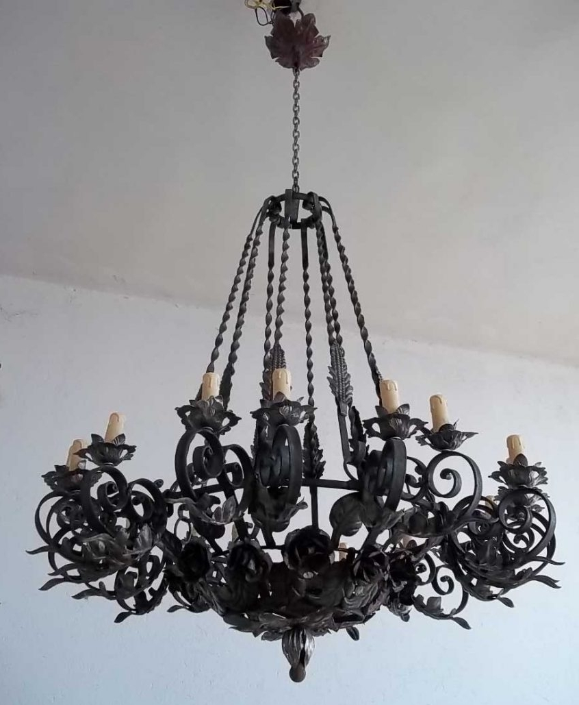65 Great Superior Breathtaking Large Wrought Iron Chandeliers Rustic Inside Well Known Black Gothic Chandelier (View 3 of 20)