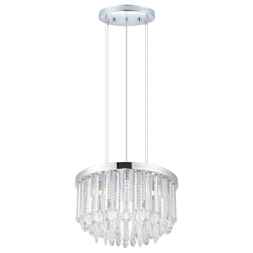 7 Light Chandeliers For Most Up To Date Eglo Usa Calaonda 7 Light Chrome Chandelier 93425A – The Home Depot (Gallery 7 of 20)