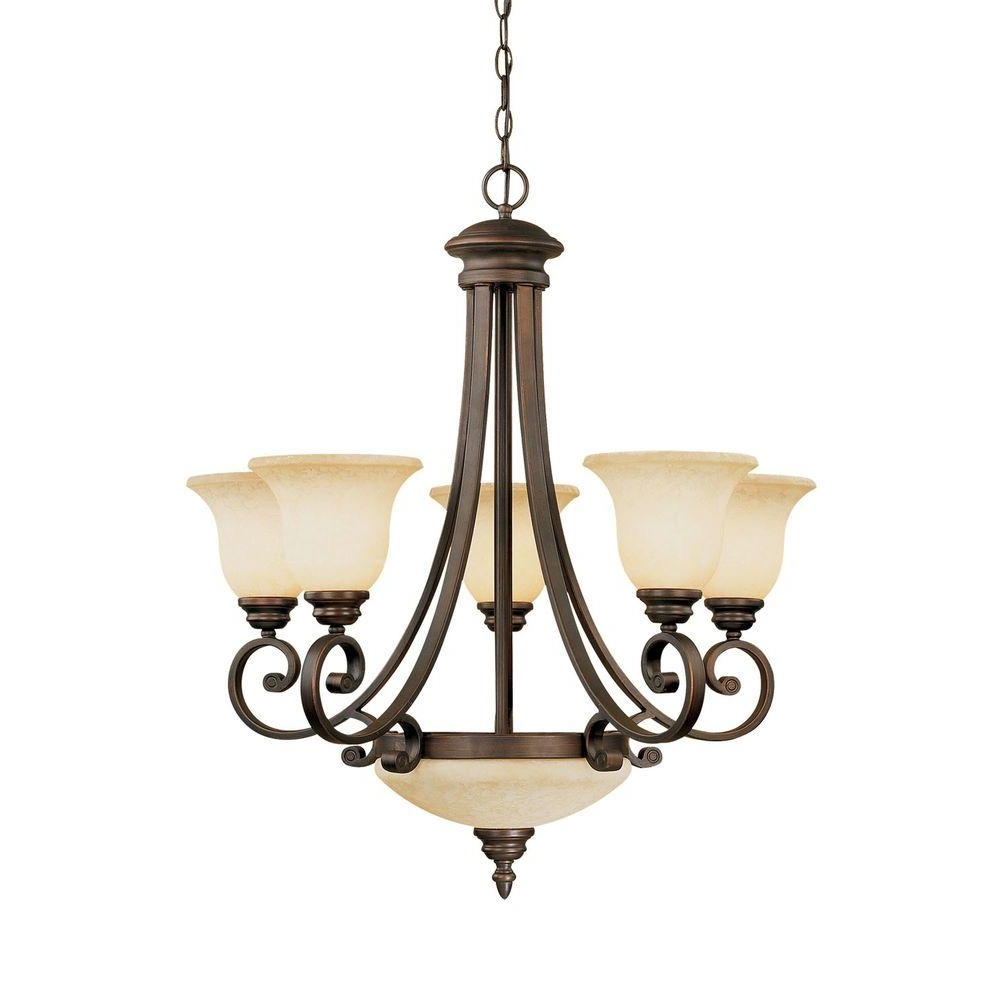 7 Light Chandeliers For Preferred Millennium Lighting 7 Light Rubbed Bronze Chandelier With Turinian (Gallery 2 of 20)