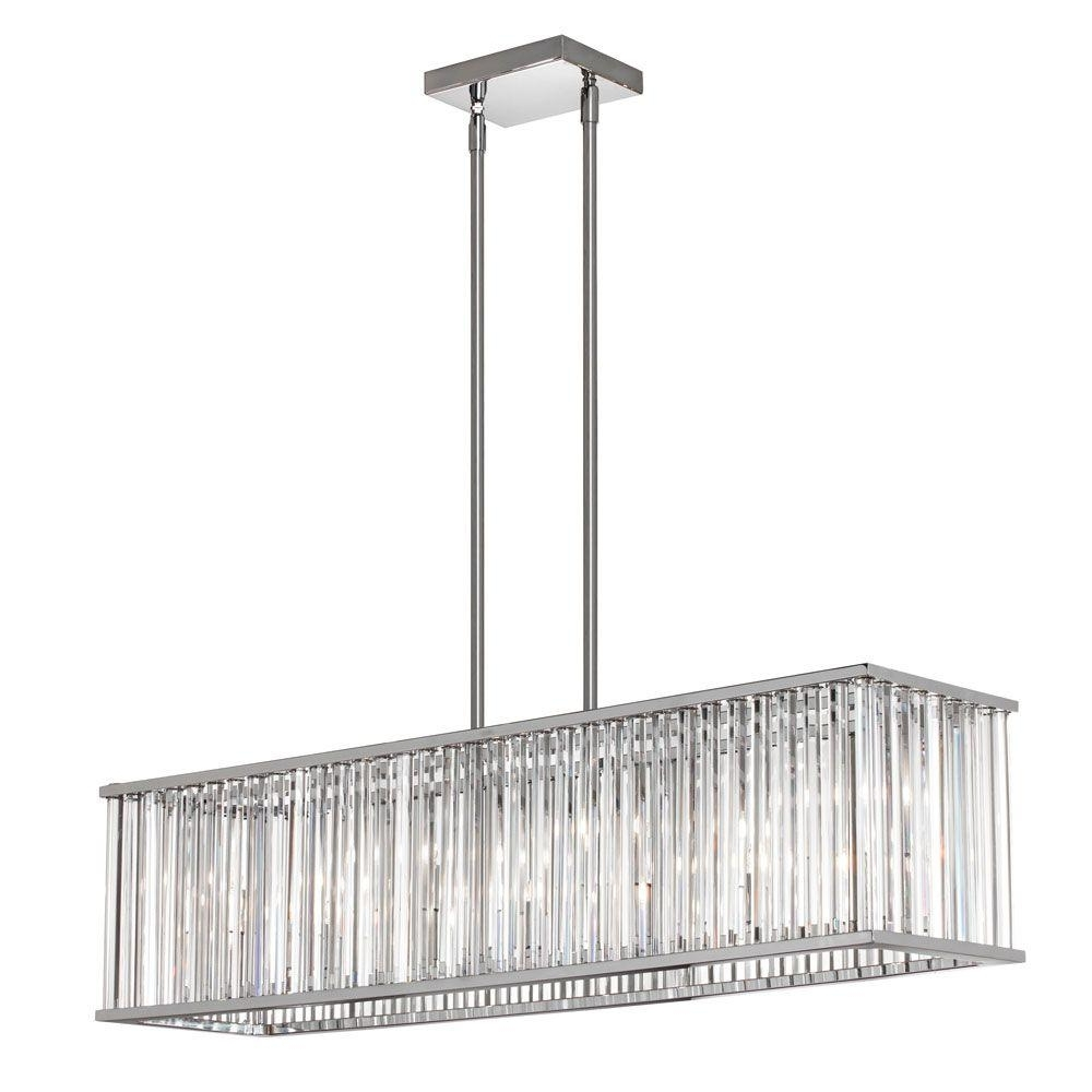 7 Light Chandeliers Intended For Well Known Radionic Hi Tech Aruba 7 Light Polished Chrome Horizontal Crystal (Gallery 1 of 20)