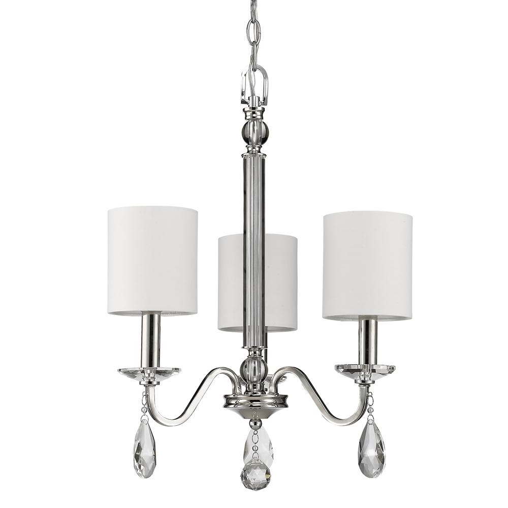 Acclaim Lighting Lily 3 Light Indoor Polished Nickel Mini Chandelier Within Well Liked Lily Chandeliers (View 11 of 20)