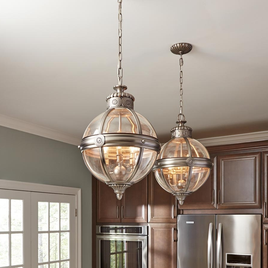 Adams 4 Light Globe Pendant Chandelier Lantern Antique Nickel In Well Known Chandelier Globe (View 3 of 20)