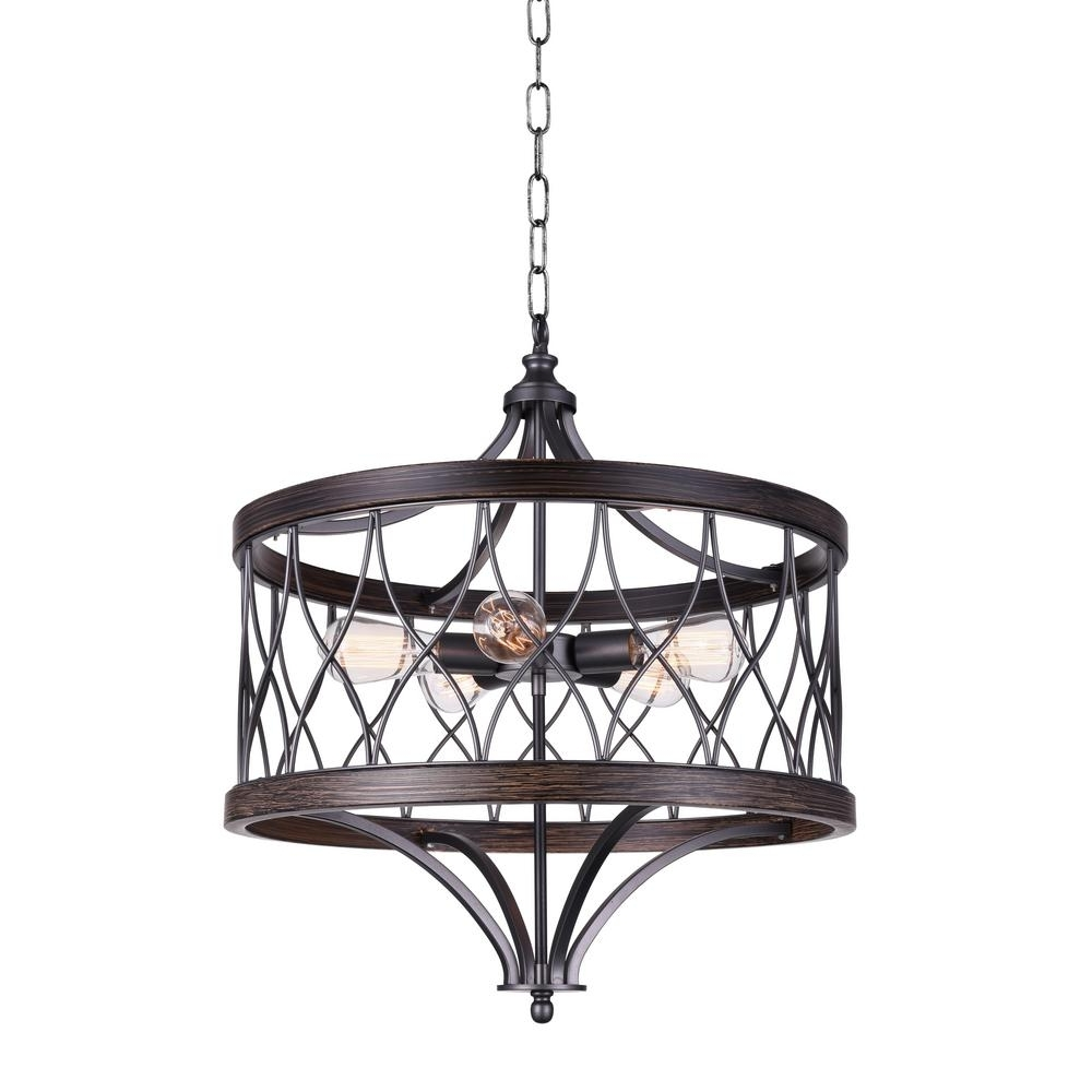 Amazon 5 Light Gun Metal Chandelier 9966P23 5 242 B – The Home Depot In Most Current Metal Chandeliers (Gallery 19 of 20)