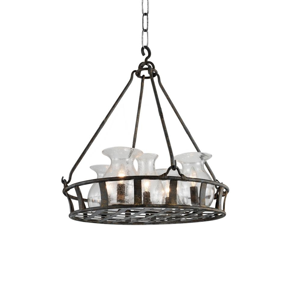 Antique Black Chandelier Pertaining To Best And Newest Imperial 6 Light Antique Black Chandelier 9925P32 6 216 – The Home Depot (Gallery 4 of 20)
