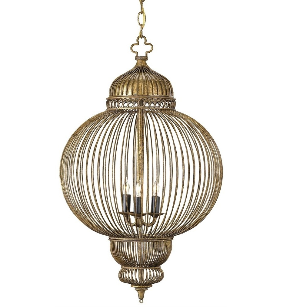 Antique Black Chandelier Pertaining To Most Popular Currey & Company – 9137 – Giltspur 3 Light Chandelier With Rustic (Gallery 12 of 20)