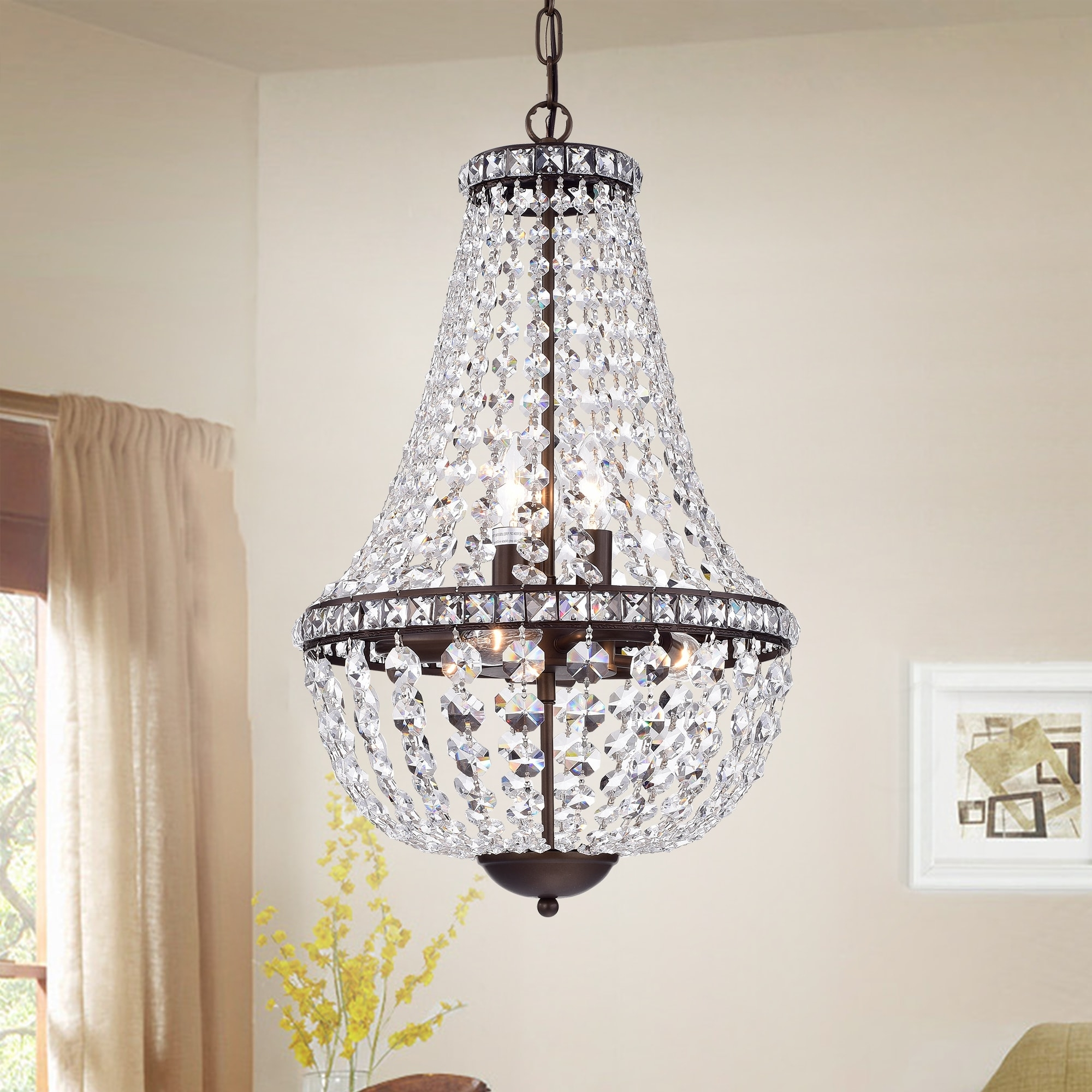 Antique Black Chandelier Pertaining To Most Popular Uanah 6 Light Crystal Antique Black Chandelier – Free Shipping Today (View 7 of 20)