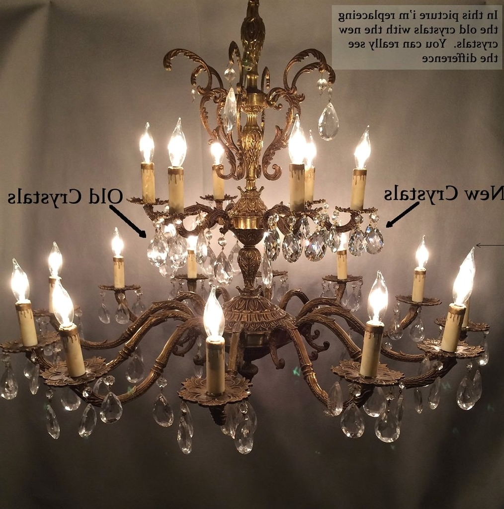Antique Brass Chandelier With Crystals And Learn How To Restore Old Inside Favorite Old Brass Chandeliers (View 16 of 20)