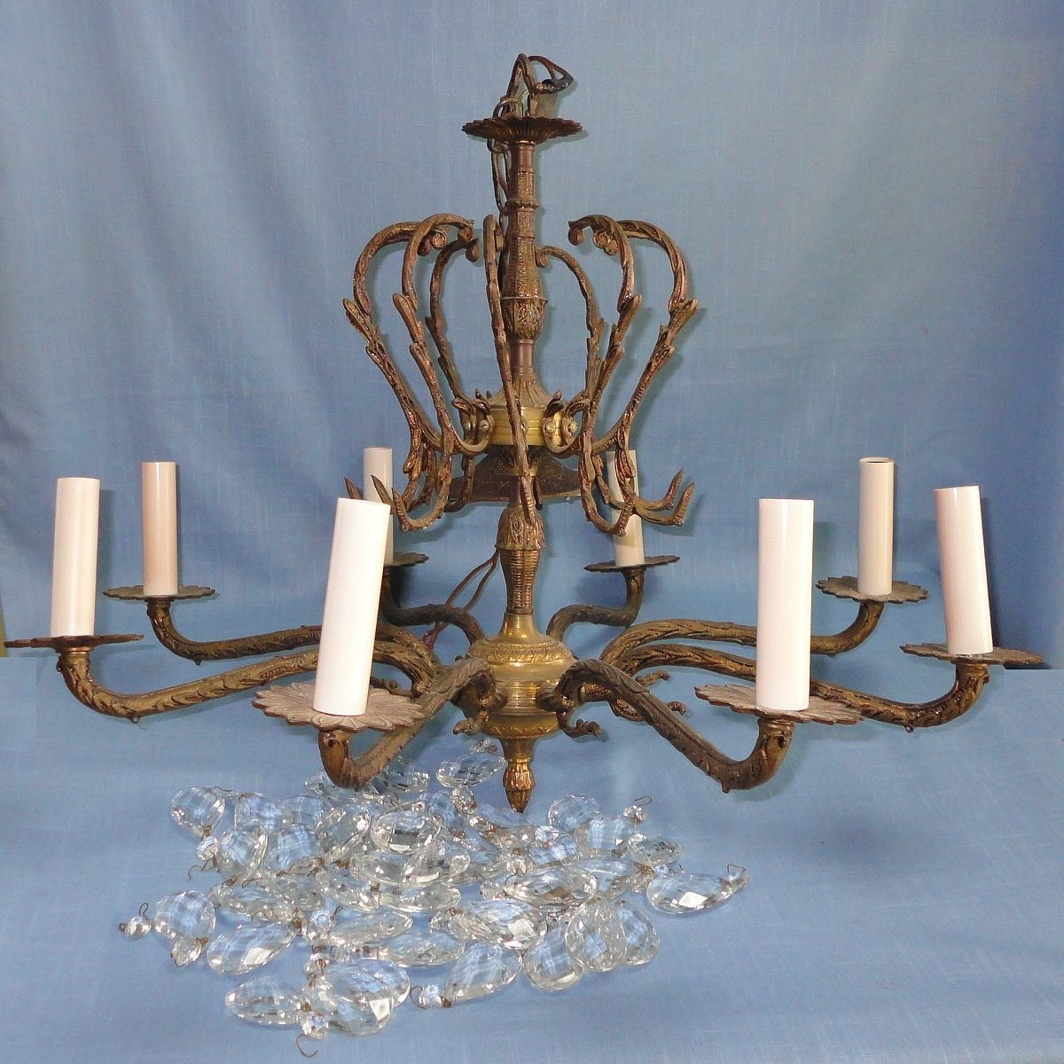 Antique Furniture Regarding Latest Old Brass Chandeliers (View 3 of 20)