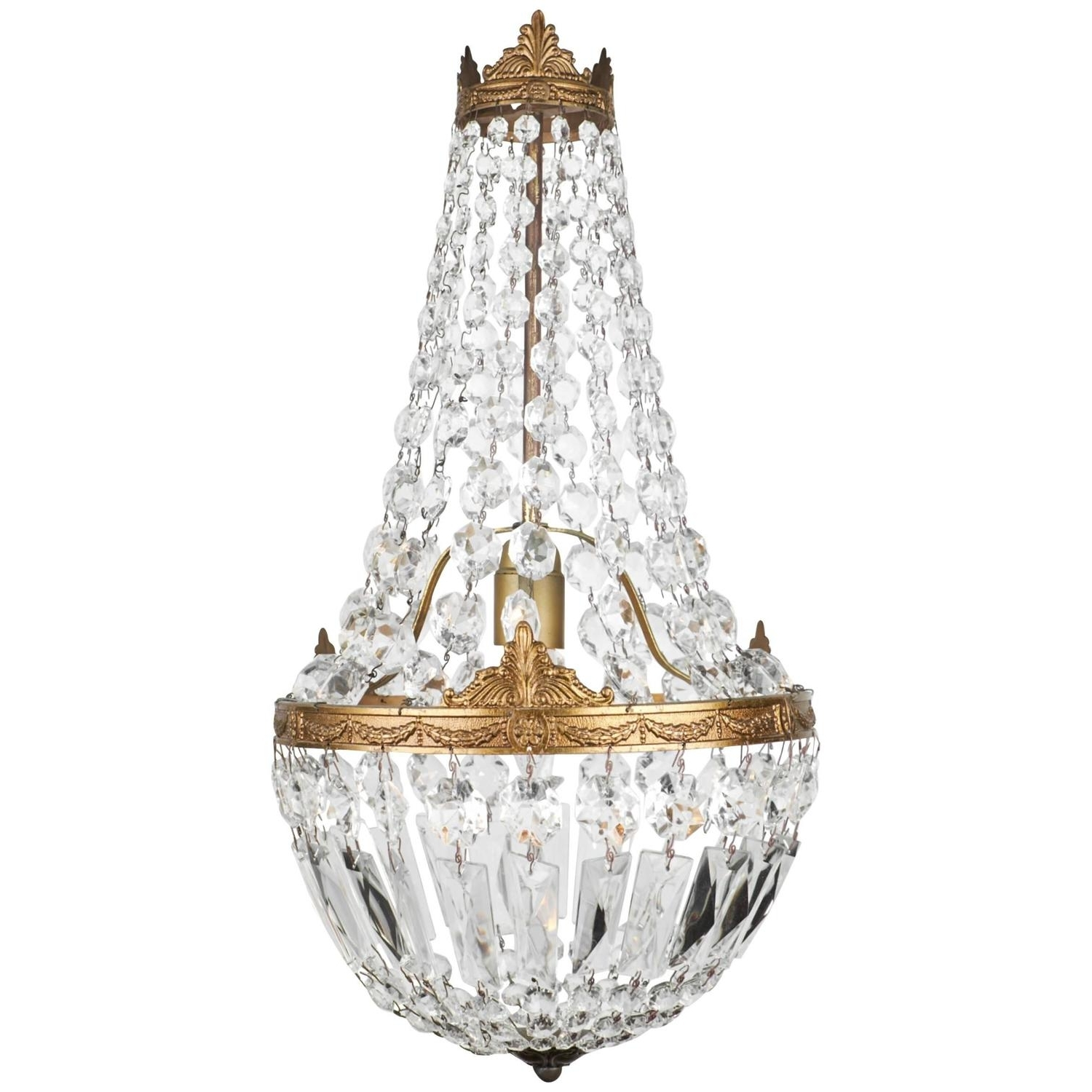 Antique Style Chandeliers Inside Famous Chandeliers Design : Magnificent Gallery Empire Crystal Light Mini (View 3 of 20)