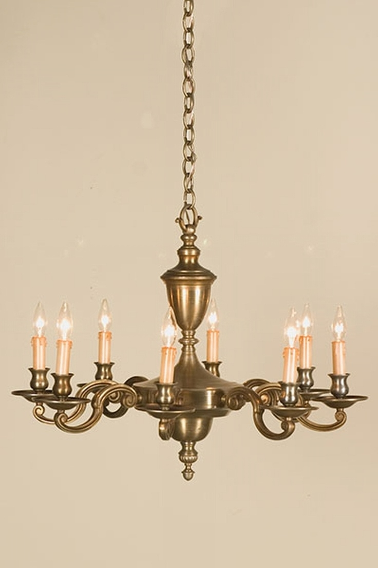Antique Throughout Old Brass Chandeliers (Gallery 9 of 20)