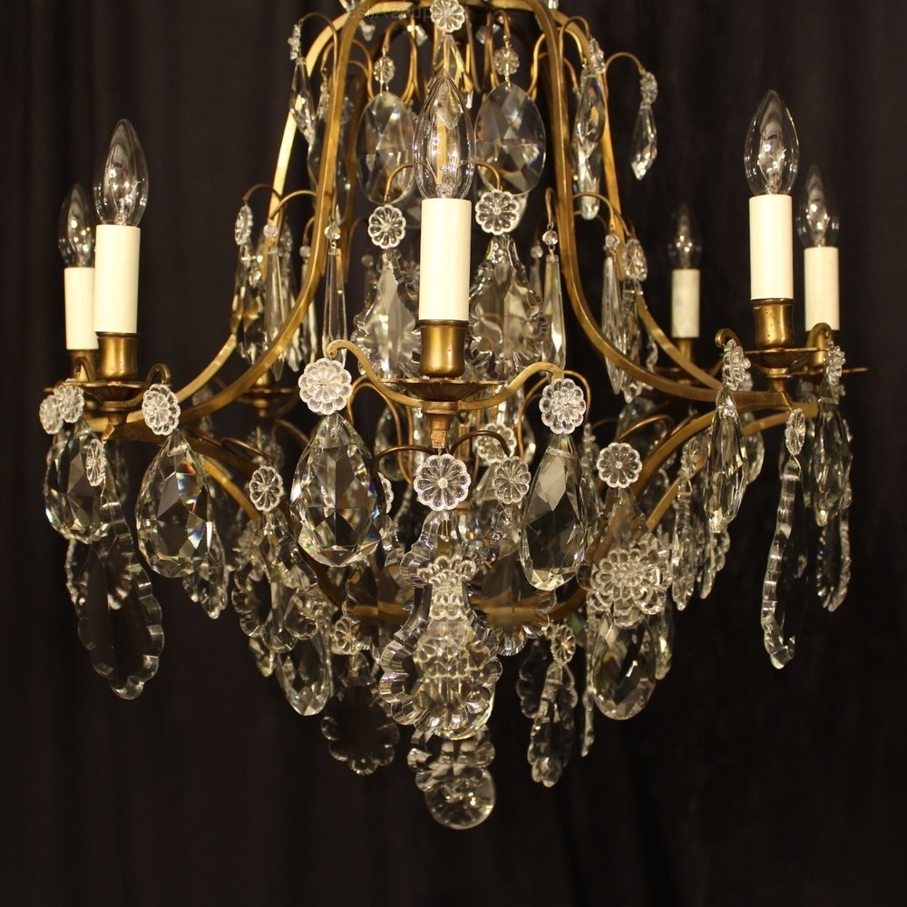 Antiques Atlas – A French 8 Light Crystal Antique Chandelier Pertaining To Popular Antique French Chandeliers (Gallery 20 of 20)