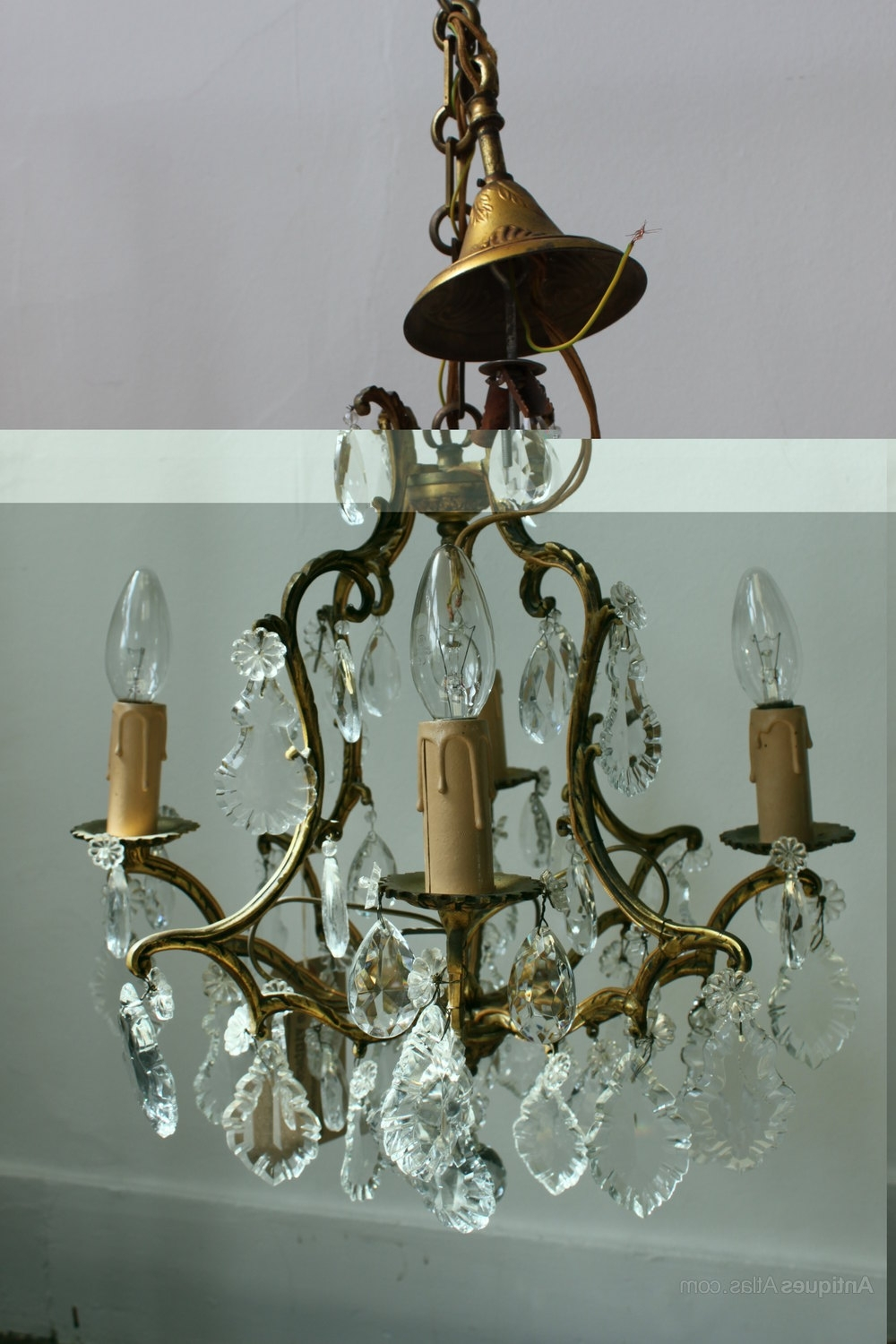 Antiques Atlas – French Brass Chandelier With Regard To Well Liked Antique French Chandeliers (View 8 of 20)
