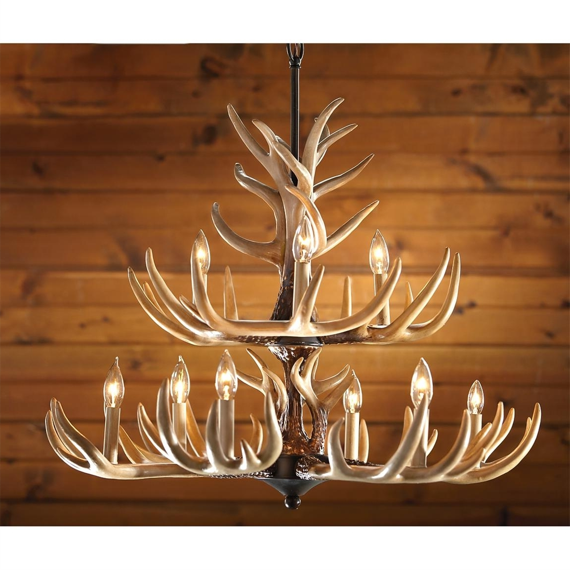 Antler Chandelier With Regard To Preferred Castlecreek 9 Light Whitetail Antler Chandelier – 226093, Lighting (Gallery 8 of 20)