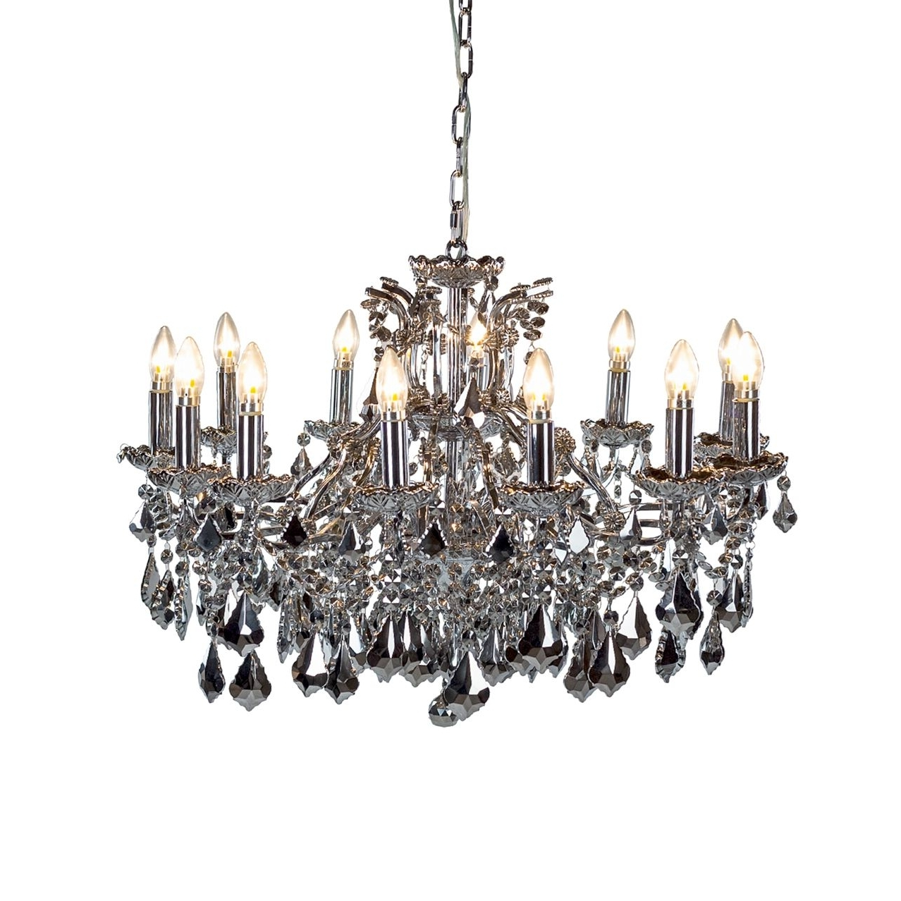 Arabella Mirrored 12 Arm Chandelier Regarding Latest Mirrored Chandelier (Gallery 5 of 20)