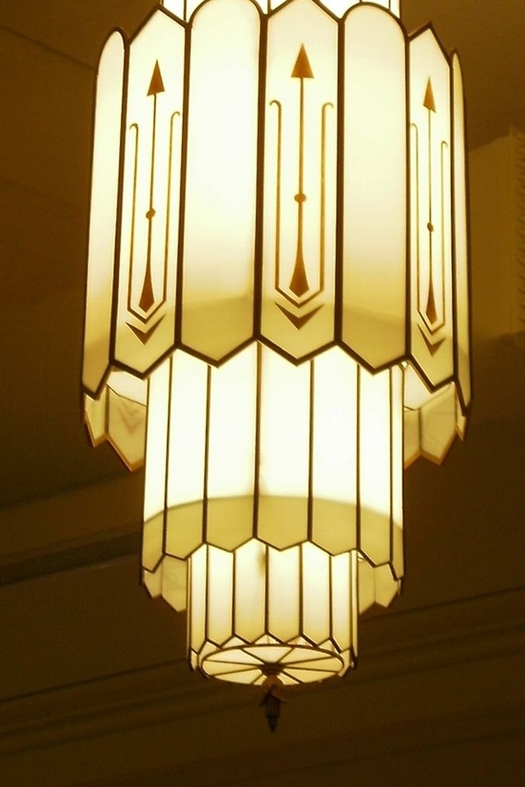 Art Deco Chandeliers Pertaining To Fashionable Art Deco Chandelier Luxury On Home Decoration Ideas With Art Deco (Gallery 8 of 20)
