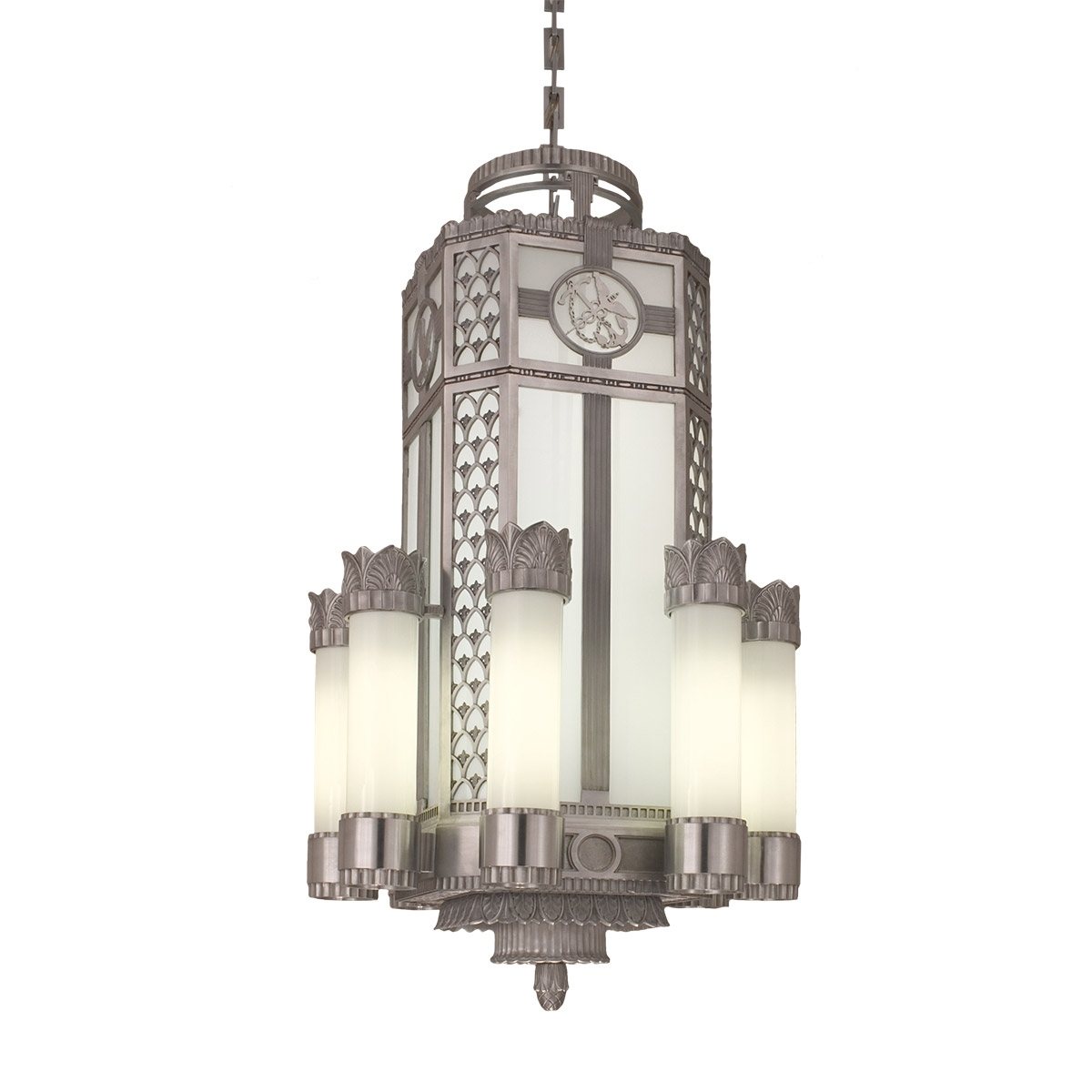 Art Deco Chandeliers Pertaining To Newest Art Deco Pendant (replica) (View 17 of 20)