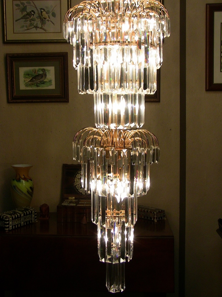 Art Deco Style Multi Layered Swarofski Crystal Chandelier Extra In Preferred Large Art Deco Chandelier (View 2 of 20)